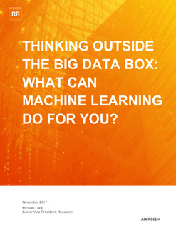 hinking Outside The Big Data Box: What Can Machine Learning Do For You?