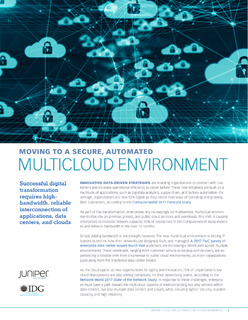Moving to a Secure, Automated Multicloud Environment