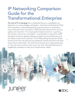 IP Networking Comparison Guide for the Transformational Enterprise