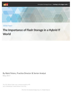 The Importance of Flash Storage in a Hybrid IT World