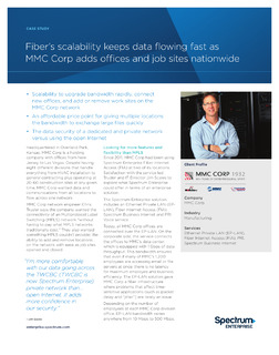Fiber's Scalability Keeps Data Flowing Fast as MMC Corp Adds Offices and Job Sites Nationwide