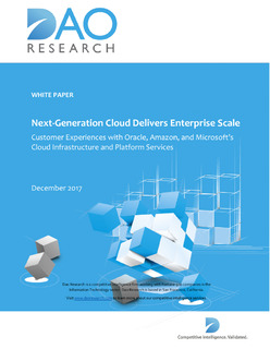 Next Generation Cloud Delivers Enterprise Scale