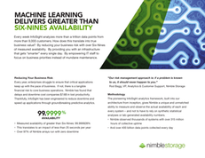 Machine Learning Delivers Greater than Six Nines Availability