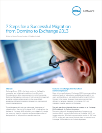 7 Steps for a Successful Migration from Domino to Exchange 2013