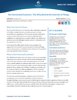 Blue Hill Research: The Connected Customer: The Why Behind the Internet of Things