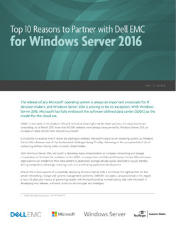 Top 10 Reasons to Partner with Dell EMC for Windows Server 2016
