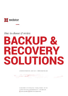 How to choose & review Backup & Recovery Solutions