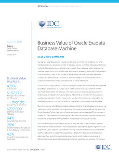 Oracle Exadata: What It's Worth to Customers