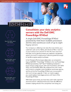Consolidate your data analytics servers with the Dell EMC PowerEdge R740xd
