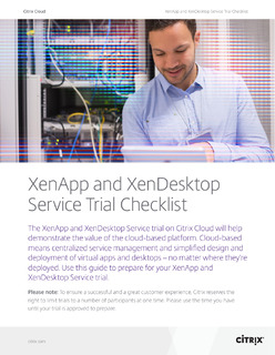 XenApp and XenDesktop Service Trial Checklist