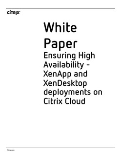 Ensuring High Availability – XenApp and XenDesktop deployments on Citrix Cloud