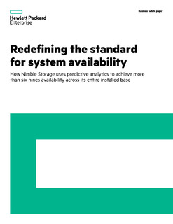 Nimble Storage: Redefining the standard for system availability – How Nimble Storage uses predictive