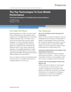 Forrester – Top Technologies to Cure Mobile Performance