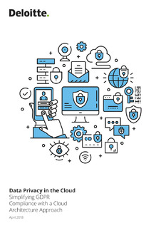 Simplifying GDPR Compliance with a Cloud Architecture Approach