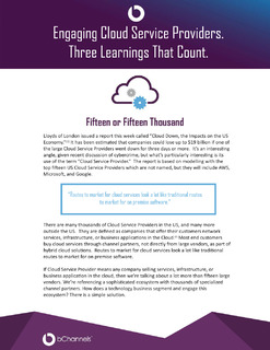 Engaging Cloud Service Providers. Three Learnings That Count