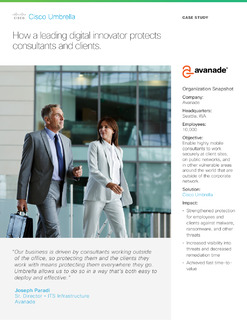 How leading digital innovator Avanade protects consultants and clients