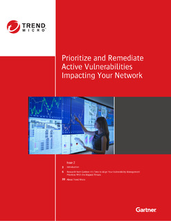 Gartner Newsletter: Prioritize and Remediate Active Vulnerabilities Impacting Your Network