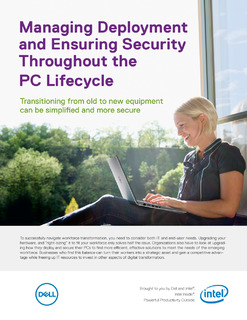 Managing Deployment and Ensuring Security throughout the PC Lifecycle