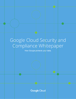 Google Cloud Security and Compliance Whitepaper