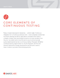 Core Elements of Continuous Testing