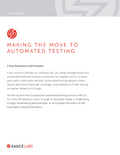 Making the Move to Automated Testing