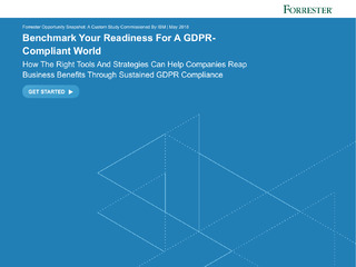 Benchmark Your Readiness For A GDPR-Compliant World