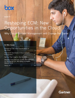 Gartner: Reshaping ECM: New Opportunities in the Cloud