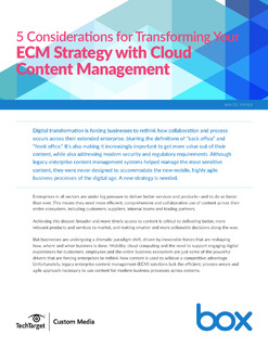 TechTarget: 5 Considerations for Transforming your ECM Strategy with Cloud Content Management