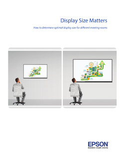 Display Size Matters: Selecting the Right Display Size for Classrooms