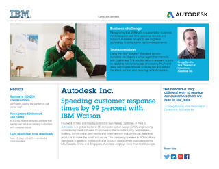 Autodesk case study: Speeding customer response times by 99 percent with IBM Watson