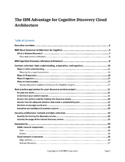 The IBM Advantage for Cognitive Discovery Cloud