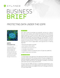 Protecting Data Under the GDPR