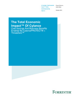 The Total Economic Impact™ Of Cylance