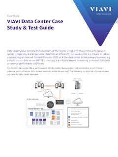 VIAVI Data Center Case Study & Test Guide