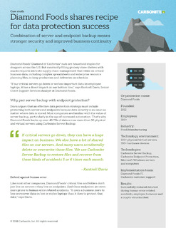 Combination of server and endpoint backup means stronger security and improved business continuity