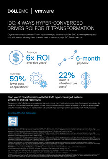 IDC: 4 Ways Hyper-Converged Drives ROI for IT Transformation