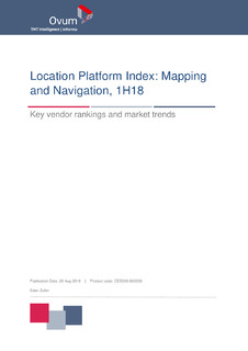 Location Platform Index: Mapping and Navigation, 1H18