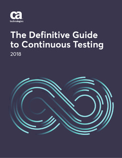 The Definitive Guide to Continuous Testing