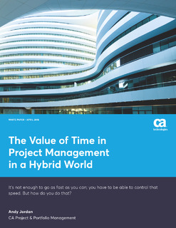 The Value of Time in Project Management in a Hybrid World