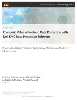 Economic Value of In-cloud Data Protection with Dell EMC Data Protection Software