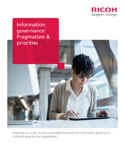 Information Governance: Pragmatism & Priorities White Paper