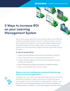 5 Ways to increase ROI on your learning management system