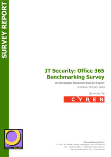 IT Security: Office 365 Benchmarking Survey
