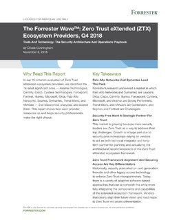 The Forrester Wave. Zero Trust eXtended (ZTX) Ecosytem Providers, Q4 2018