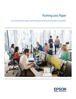 Pushing Less Paper: How Document Capture and Processing Can Streamline Insurance Business Operations