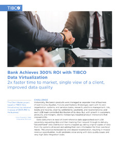Bank Achieves 300% ROI with TIBCO Data Virtualization