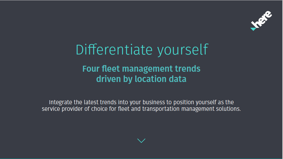 Differentiate with location data: Discover the four big fleet management trends?