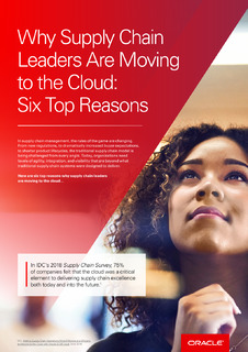 Why Supply Chain Leaders are Moving to the Cloud: Six Top Reasons