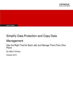 Simplify Data Protection and Copy Data Management