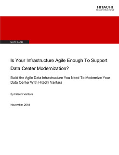 Is Your Infrastructure Agile Enough To Support Data Center Modernization?